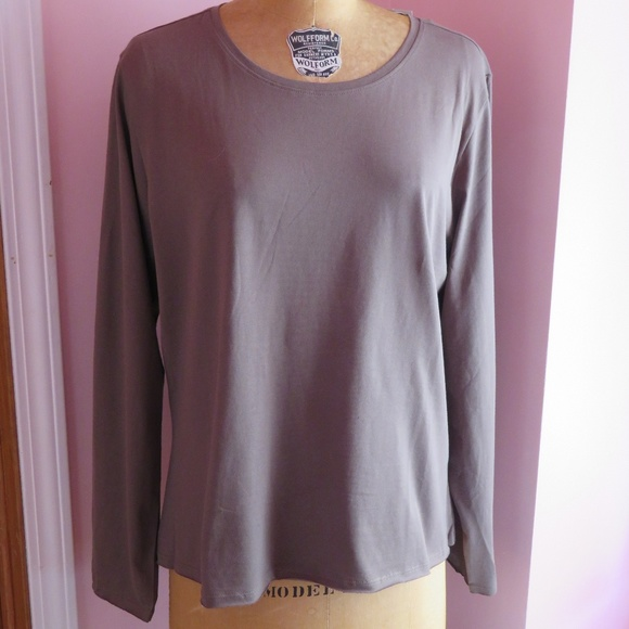 6e7e40a7 J. Jill Tops | J Jill Long Sleeve Fitted Tee | Poshmark
